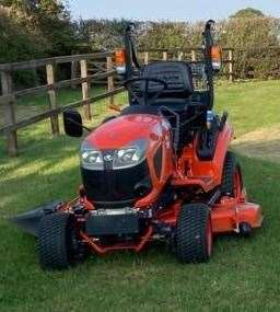 The Kubota BX231 ride on mower that was stolen from a barn in Wickhambrook