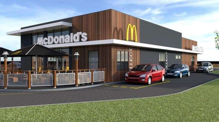What the drive through will look like at Newmarket's Willie Snaith Road McDonald's.