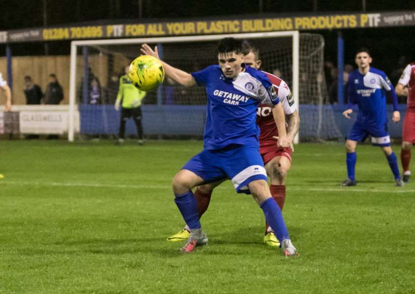 GOALSCORER: Tommy Robinson netted his first goal for Bury on Saturday. Picture: Paul Tebbutt