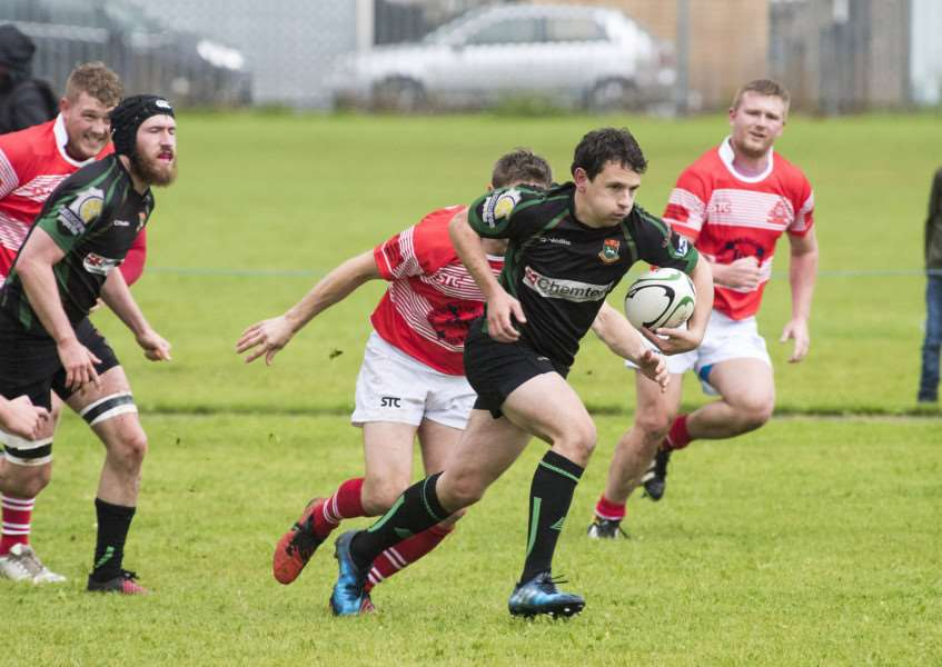 HOME WIN: Harvey Bell scored two tries during Newmarket's victory over Crusaders