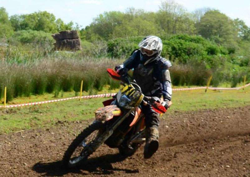 SHOCK VICTORY: Jason Carsboult (Sudbury), who was named the revised winner of the Clubman Class at round three of the E C Enduro Championship.