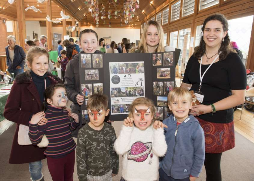 BURY: West Suffolk Home Education Fayre 'The Apex, Bury St Edmunds'Steph Holland has organised the West Suffolk Home Education Fayre at the Apex pictured with some of her young nature explorers'Picture Mark Westley