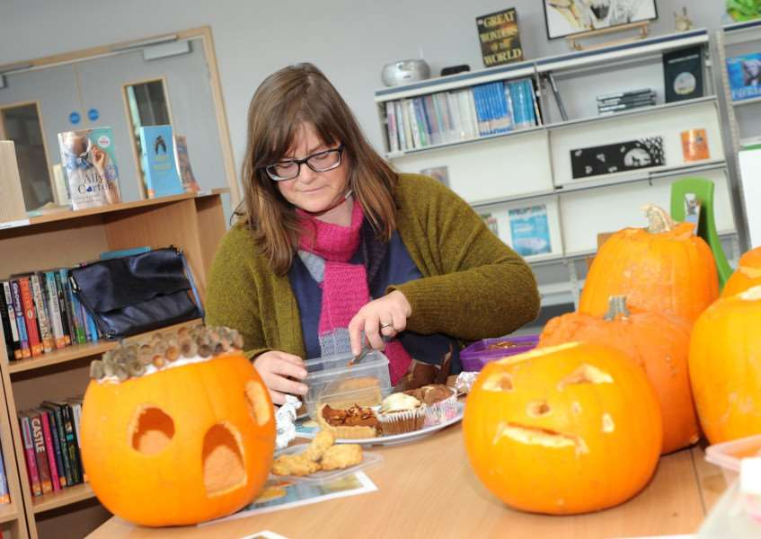 Halloween themed ideas to reduce food waste with Karen Cannard and students at Sybil Andrews Academy''Pictured: Nicola Miller judging the baking''''PICTURE: Mecha Morton
