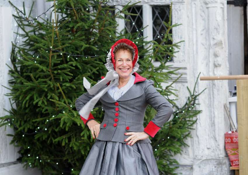 Lavenham Christmas Market ''Pictured: Fran Bradshaw in Victorian Dickensian clothing ANL-150712-014045009