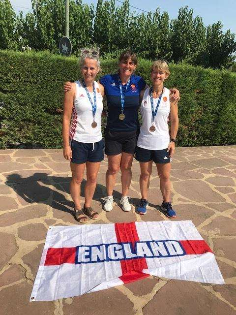MEDALLISTS: (from left) Katie Bedford, Sharon Holton, and Juliet Konrath