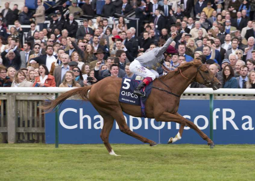 CHAMPION: Galileo Gold, pictured winning the 2000 Guineas, romped home at Royal Ascot.
