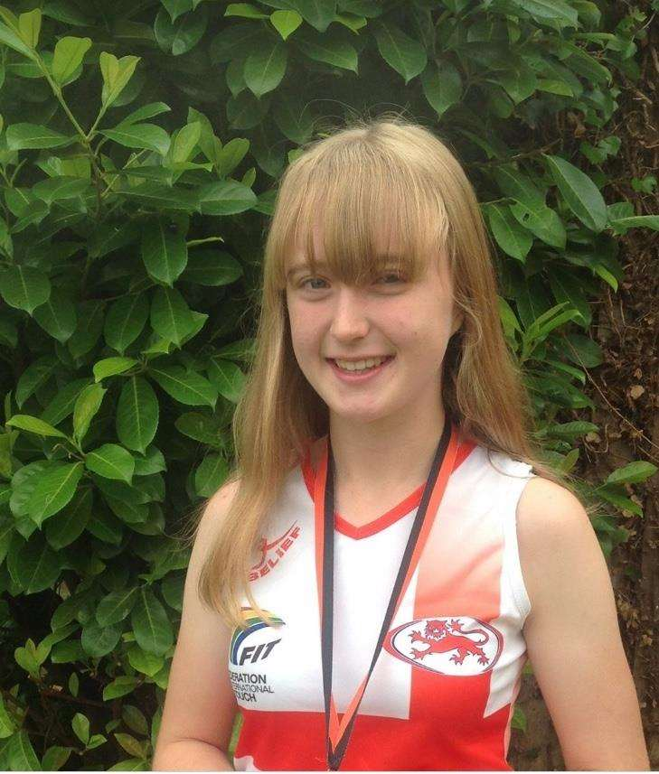 RISING STAR: Lucy Norburn won European touch rugby gold