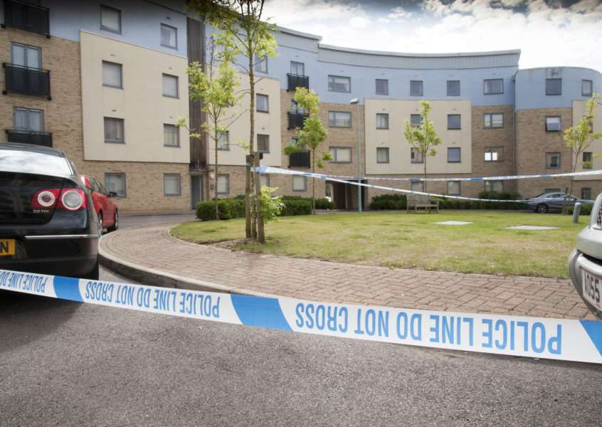 Shooting in Bury St Edmunds in flats on Station Hill.'Picture Mark Westley ANL-150508-101854009