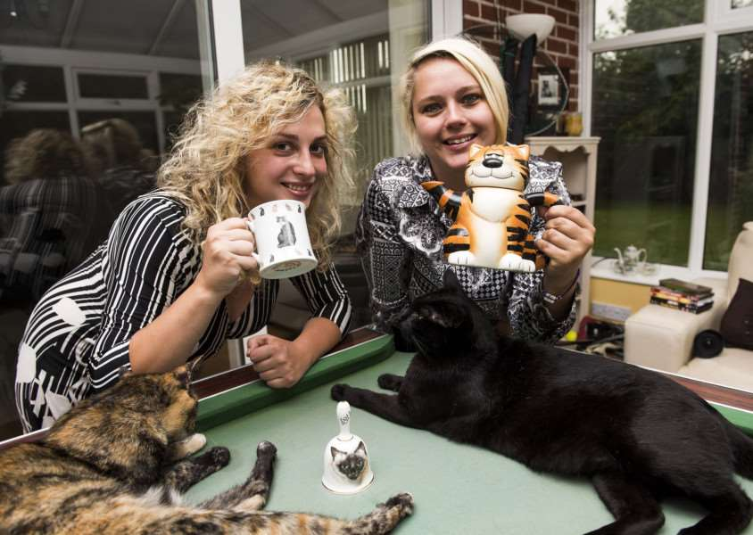 Lauren Moyes and Gemma Whitehouse who are setting up a cat caf�.