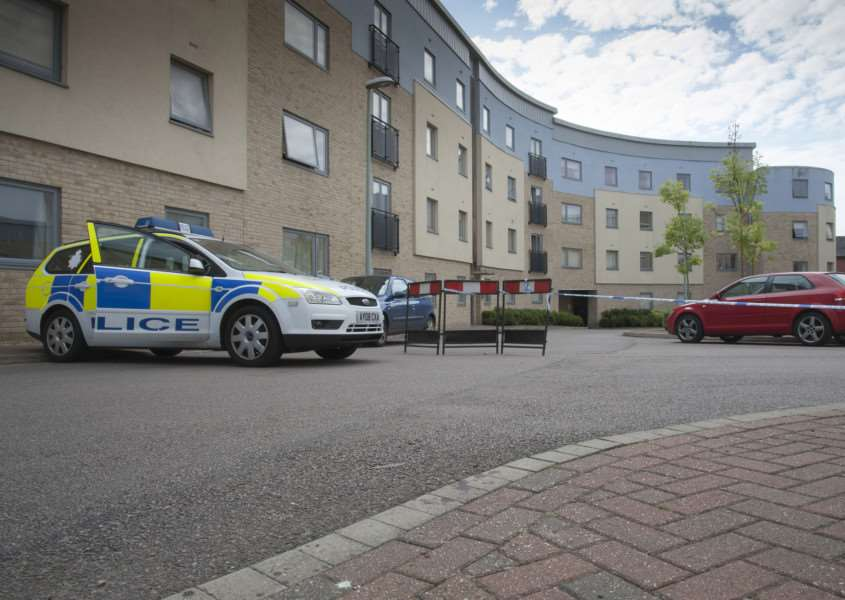 Shooting in Bury St Edmunds in flats on Station Hill.'Picture Mark Westley ANL-150508-101906009