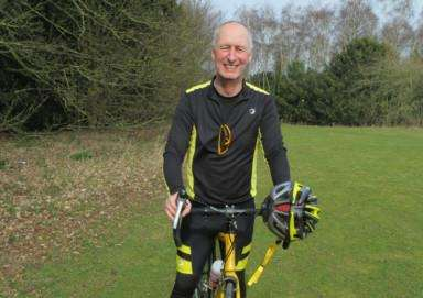 Sudbury man Barry Moult is cycling 300 miles for the Forget-Me-Not dementia campaign. ANL-150317-171706001