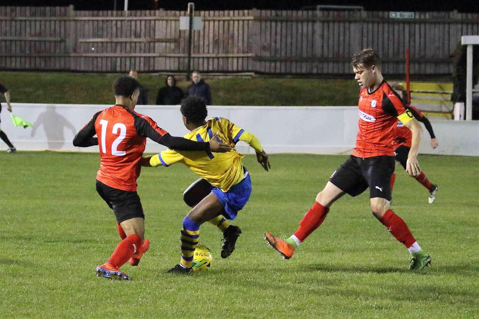 AFC Sudbury at Coggeshall Town in the Velocity Trophy - Rauf Kabangu on his first-team debutPicture: Steve Screech (17514434)
