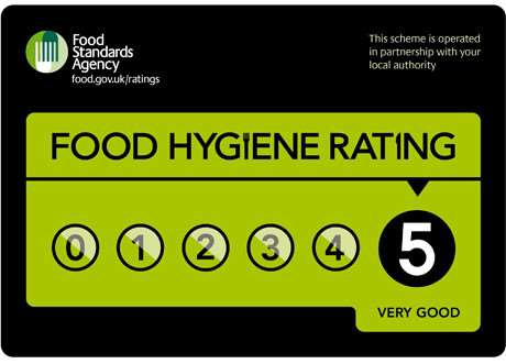 Look out for Food Hygiene Rating signs in eateries