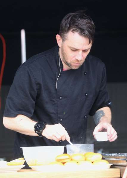 Chefs demonstrate their skills on the stage at the Taste of Sudbury event