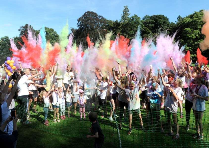 Last year's Bury St Edmunds Colour Dash at Nowton Park in aid of East Anglia's Children's Hospices (EACH)