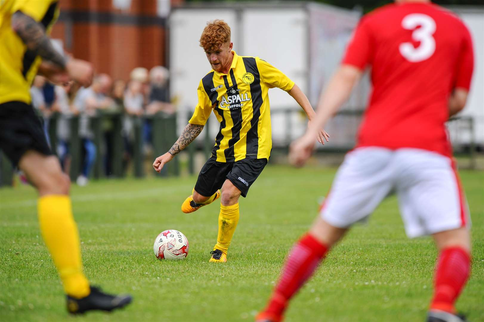 Football action from Debenham LC vs Downham Market...Tobie Stollery..Picture: Mark Bullimore Photography. (14710909)