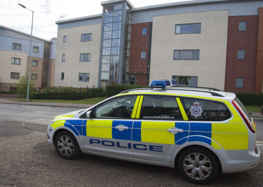 Shooting in Bury St Edmunds in flats on Station Hill.'Picture Mark Westley ANL-150508-101941009