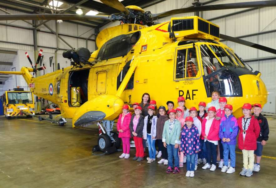 Children affected by the after effects of the Chernobyl nuclear disaster visited Wattisham Airfield