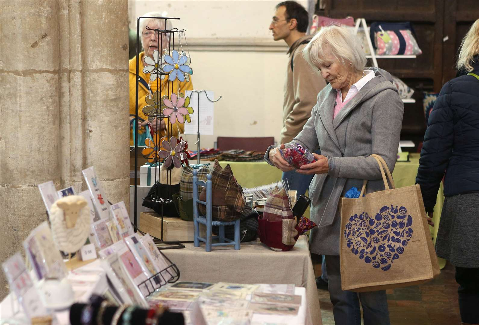Visitors enjoy the Craft & Gift fair held at St Peters Church in Sudbury..Pic - Richard Marsham. (9255195)