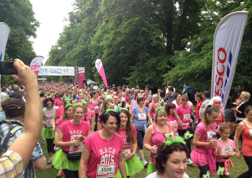 More than 1,900 are thought to have taken part in the 5k Race for Life. ANL-150628-144028001