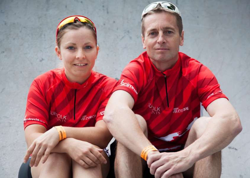 Suffolk's StreetVelodrome pro-team Tanya Griffiths and John Stockwell ANL-170401-125207001