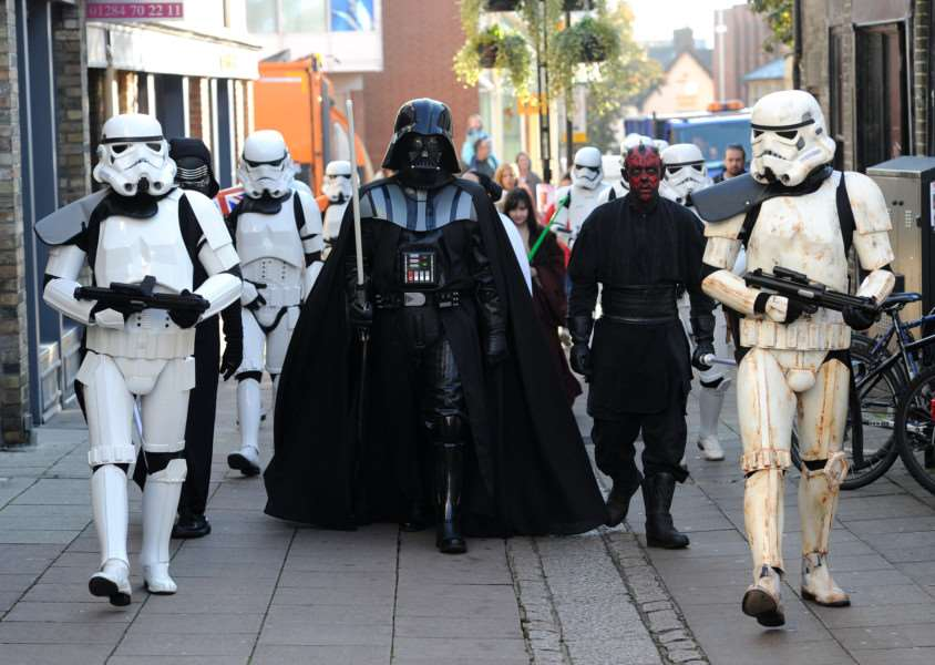 Star Wars characters march through Bury town centre ANL-161022-130544009