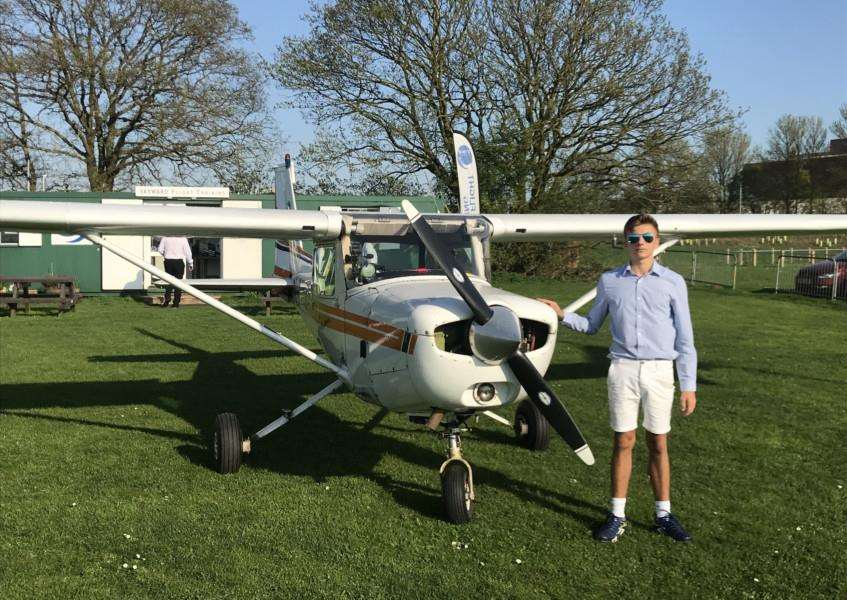 Scott Cansdale took his first solo flight on his 16th birthday