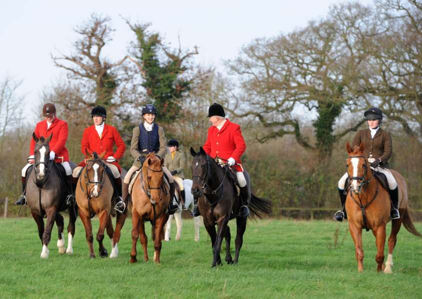 Boxing Day Hunt, Hawstead ANL-151227-172033009