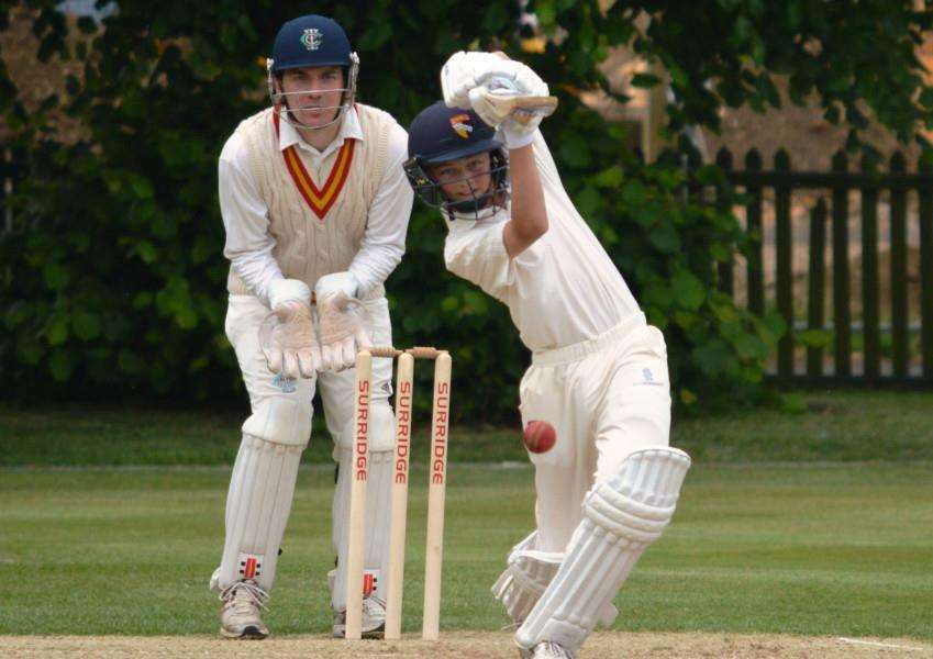 RUNS GALORE: Freddie Fairey in action for King's