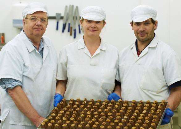 The team behind local chocolate company Hadleigh Maid- from left ro right, Mike, Angela and Donny Briggs. ANL-150601-134406001