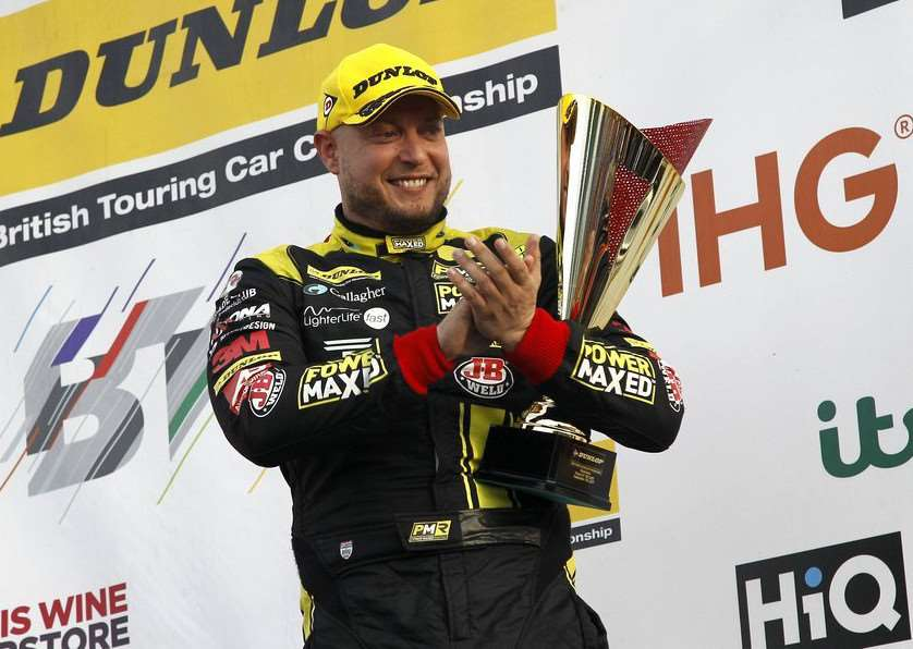 PODIUM RETURN: Rob Huff came second in the final race at Silverstone at the weekend