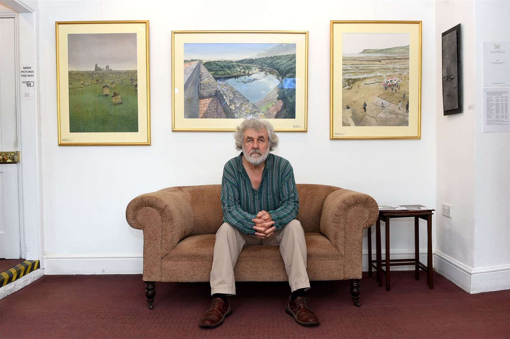 Chappel Galleries has reopened to the public after being closed during lockdown to showcase a coastal scenes watercolours exhibition with a range of sculptures...Pictured: Wladyslaw Mirecki...PICTURE: Mecha Morton.... (37033010)