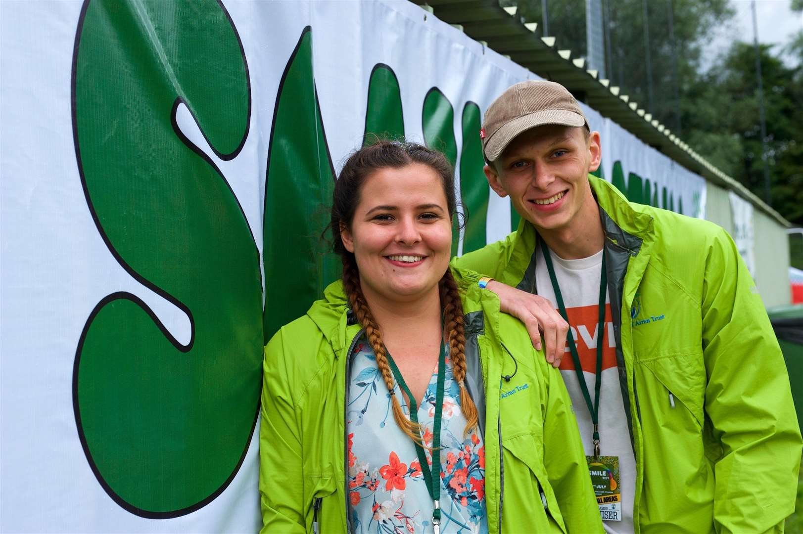 Sudbury, Suffolk. Smile Music Festival in memory of Arran Tosh, who died of a brain tumour in 2014 aged 1 3 at AFC Sudbury Ground. Pictured are organisers Abbie Tosh and James Price...Picture: MARK BULLIMORE. (14007735)