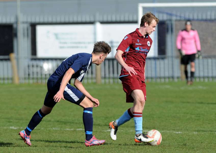 STAR MAN: Cameron King netted a first-half hat-trick during Thetford's high-scoring victory over Hadleigh