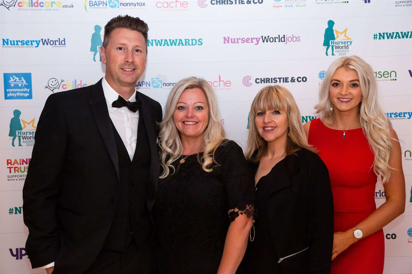 Tony Dixon, Julie Dixon, Jo Wells and Abi Dixon at the awards ceremony. Contributed picture