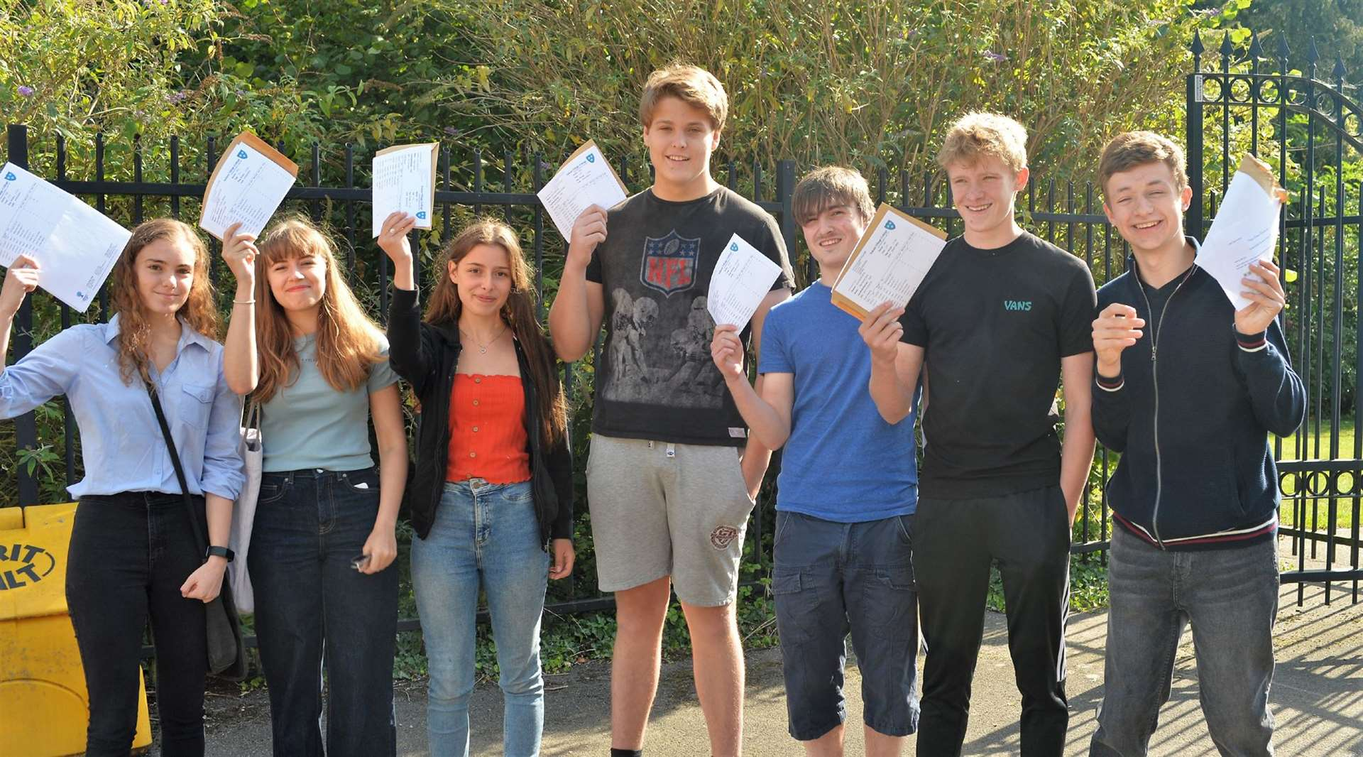 Students from Soham Village College: Emily Paillot, Millie Churley, Eloise Satchell, Kris Winkel, Benjamin Revie, Max Airey and Adam Bristow.