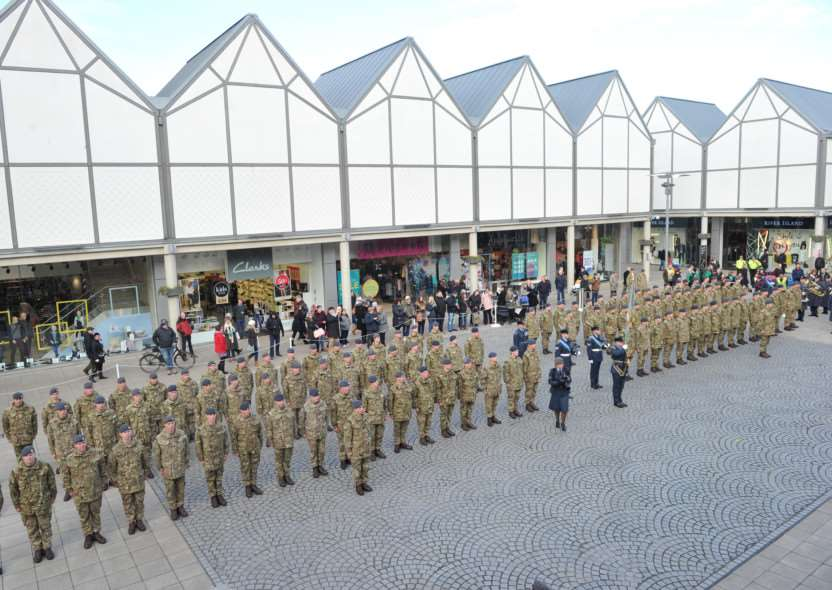 NO.15 Squadron RAF Regiment Op HERRICK had their homecoming parade through Bury St Edmunds ANL-150602-114211009