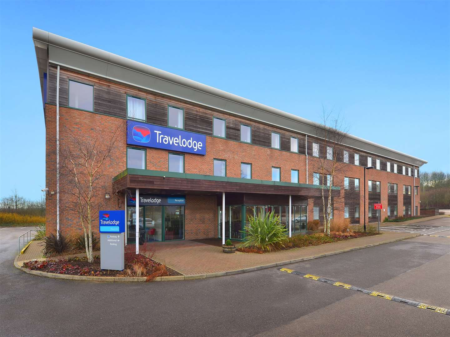 Travelodge in Phoenix Road, Haverhill, which is now open again for guests after a 16 week closure