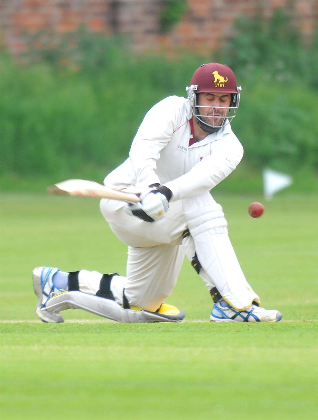 TO THE FORE: Ben Reece, recently back from a year in New Zealand, stepped up to the mark with the bat in Sudbury's late win at Horsford on Saturday PICTURE: Roger Arbon