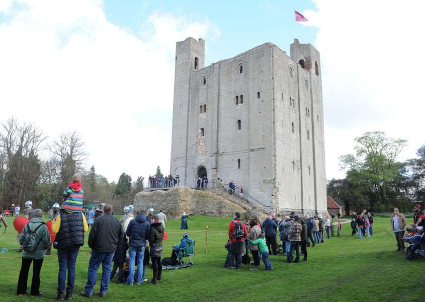 One of the many events at Hedingham Castle
