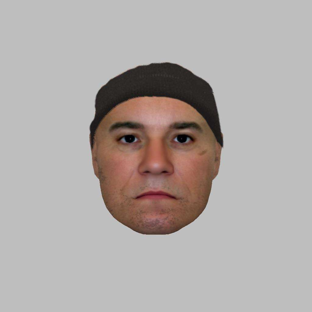 Police issued this e-fit likeness of a man wanted in connection with the burglary at Martin's in Haverhill