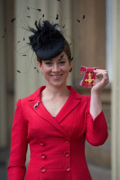 Former jockey Hayley Turner after receiving her Officer of the Order of the British Empire (OBE) for services to horseracing at Buckingham Palace in London. PRESS ASSOCIATION Photo. Picture date: Tuesday October 25, 2016. See PA story ROYAL Investiture. Photo credit should read: Stefan Rousseau/PA Wire ROYAL_Investiture_131927.JPG