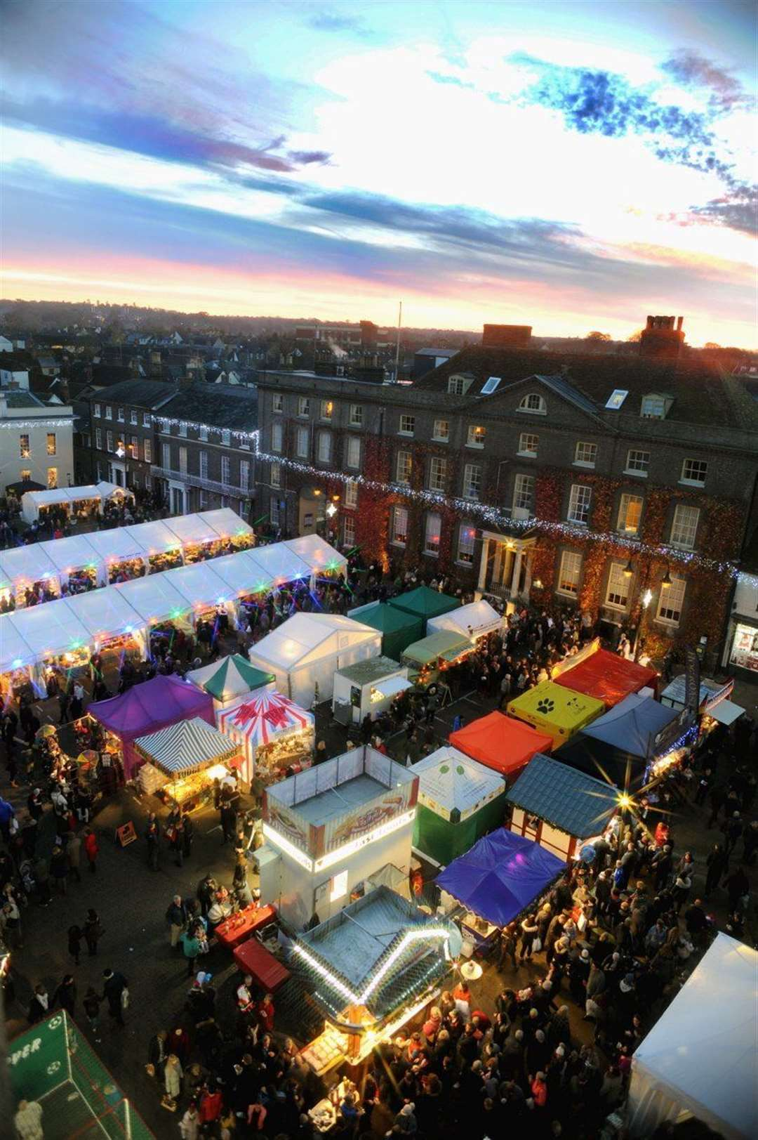 Bury St Edmunds Christmas Fayre: Picture by Andy Abbott.