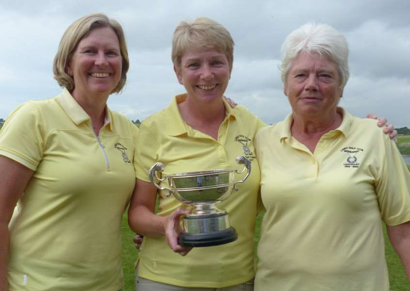 CHAMPIONS: Sarah Greenall, Marcella Tuttle and Edie Douglas