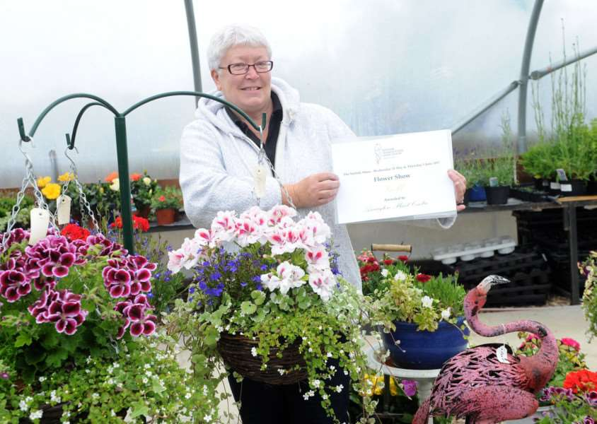 Julie Ivory at the Plant Centre in Assington. She won gold last week at the Suffolk Show. PICTURE: Mecha Morton