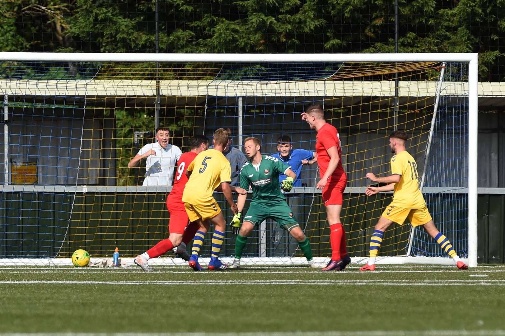 AFC Sudbury let in a soft goal against Harborough TownPicture: Mecha Morton
