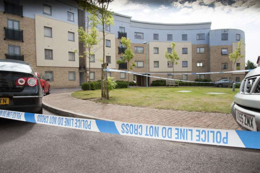 Scene of shooting at Forum Court, Bury St Edmunds, in August 2015