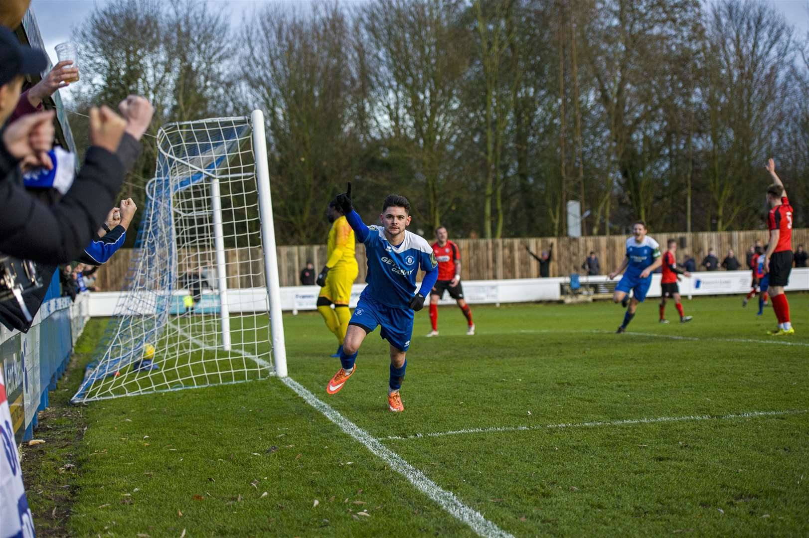 Football - Bury Town v Coggeshall - Cemal Ramadan celebrates his goal for Bury Town- Picture - Neil Dady. (22981711)