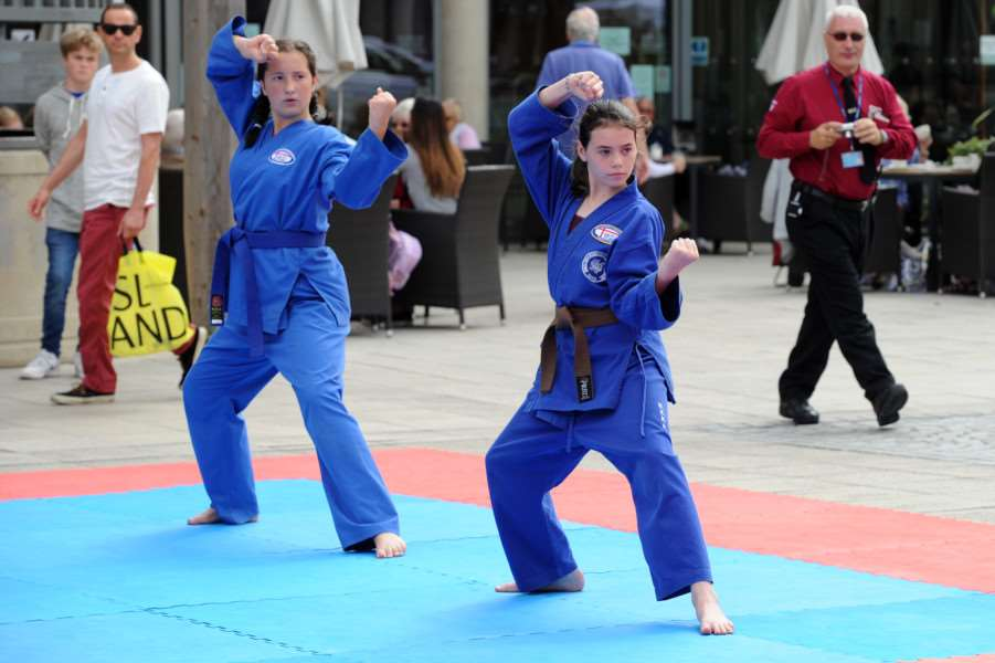 Northgate Karate demonstration at the Arc ANL-160509-082700009
