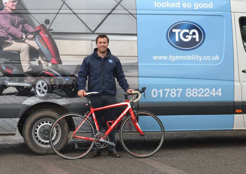 Daniel Salter, TGA Mobility Consultant, will be competing in the Chelmsford 'Pedal for the J's' charity cycle ride.